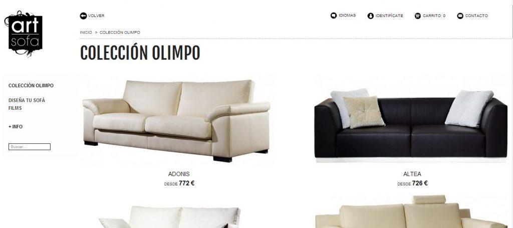 venta de sofas online en la web de