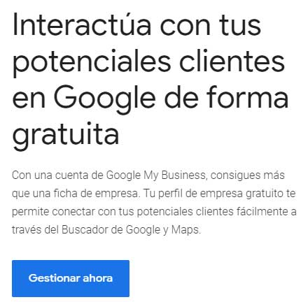 Crear cuenta google my business